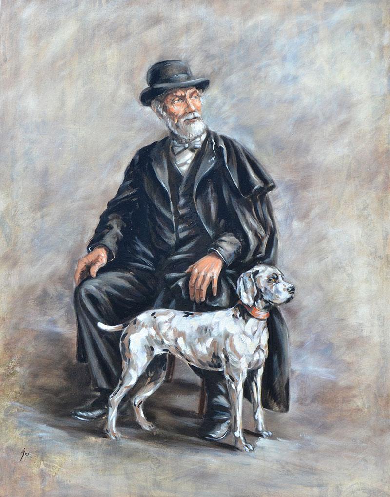 """""""Don Pablo"""", óleo sobre lienzo 100x80"""
