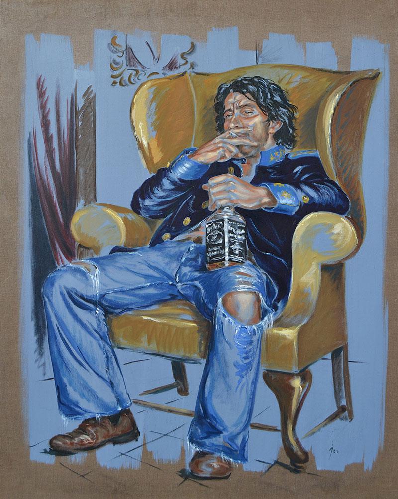 """""""El último Conde"""", óleo sobre lienzo 100x80"""