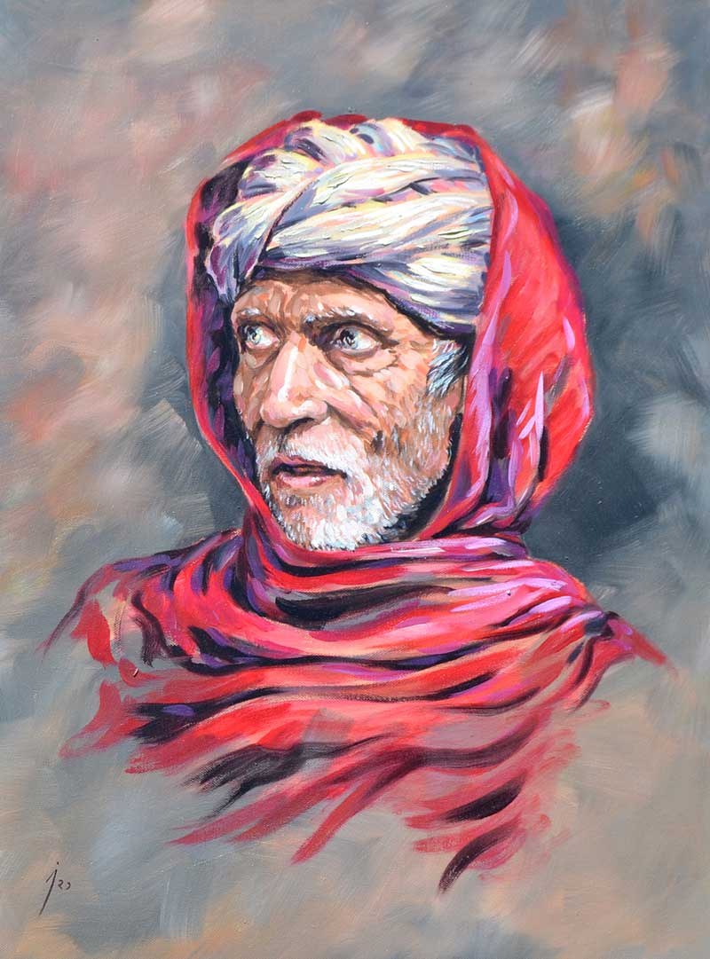 """Esa mirada"", óleo sobre lienzo 50x70"