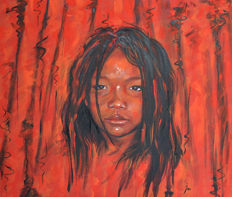 """""""Prerna"""", óleo sobre lienzo 50x70"""