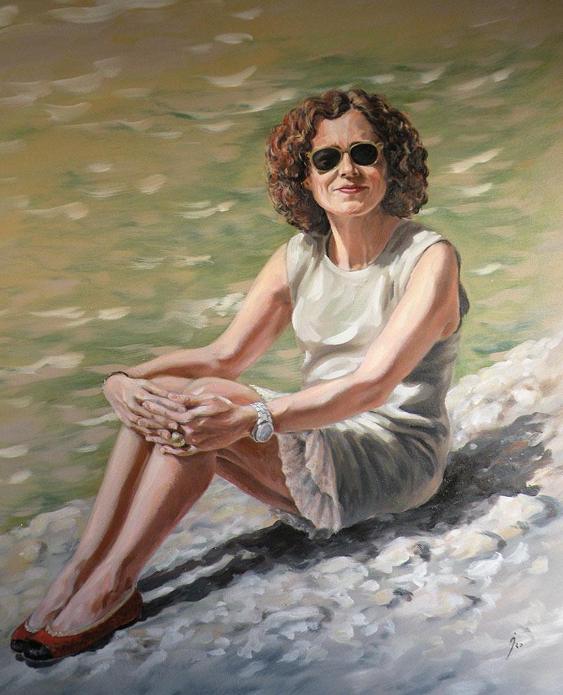"""Teresa"", óleo sobre lienzo 100x100"