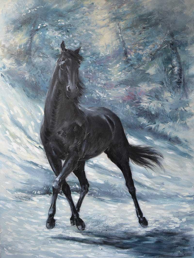 """""""Trueno"""", óleo sobre lienzo 80x60"""