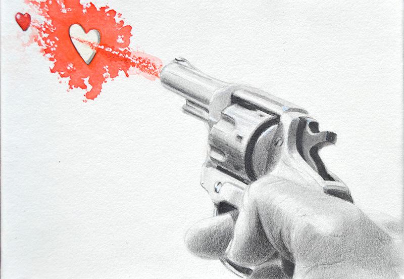 """""""Utopía 2"""", grafito sobre papel 25x18"""