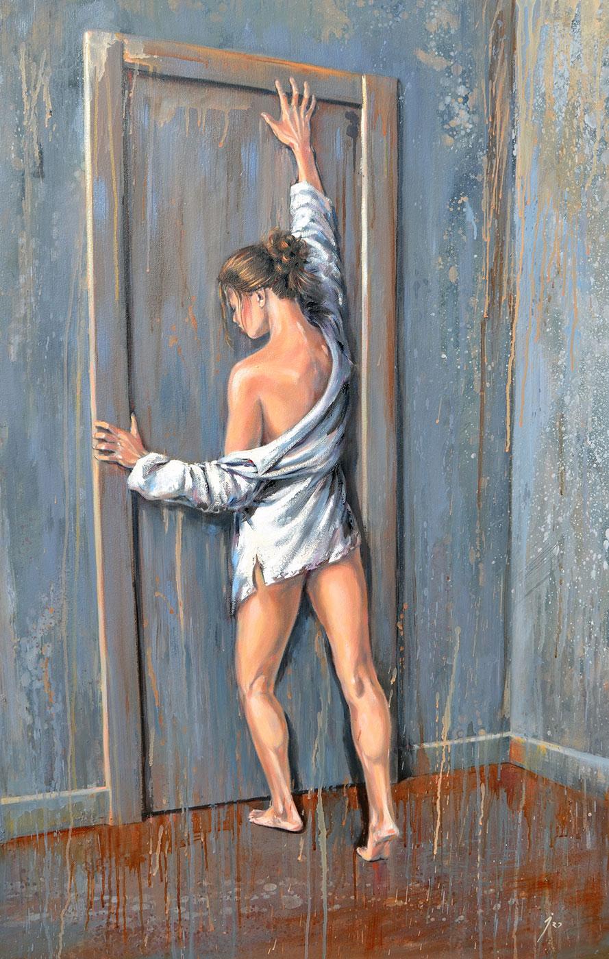"""Atrapada"", mixta sobre lienzo 120x80"