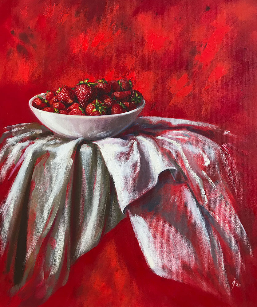 """""""Rojo"""", mixta sobre lienzo 46x55"""